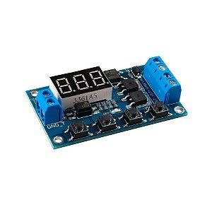 Módulo Temporizador Digital Programável Dual MOS 5V ~ 30V
