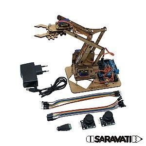 Braço Robótico MDF (Kit para montar) Completo