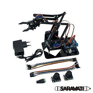 Braço Robótico PS Preto (Kit para montar) Completo
