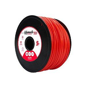 Filamento para Impressoras 3D PLA 1Kg 3mm Vermelho