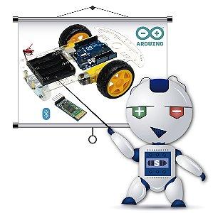 Curso Meu Primeiro Robô com Arduino - Kit Chassi Carrinho 2 Rodas