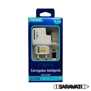 Fonte Carregador Micro USB 100-240V 5V 3.1A CAR-G5063 Inova