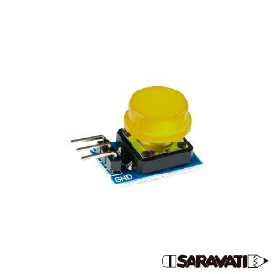 Módulo Botão 12mm Chave Táctil Push Button 3 Pinos Amarelo
