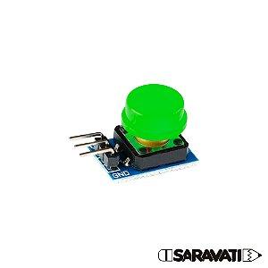 Módulo Botão 12mm Chave Táctil Push Button 3 Pinos Verde