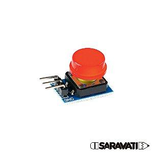 Módulo Botão 12mm Chave Táctil Push Button 3 Pinos Vermelho