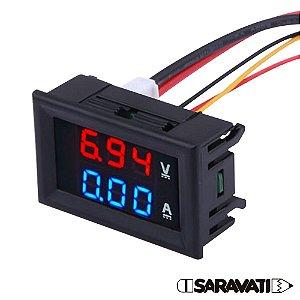 Voltímetro Amperímetro 100V DC 10A Digital DSN-VC288