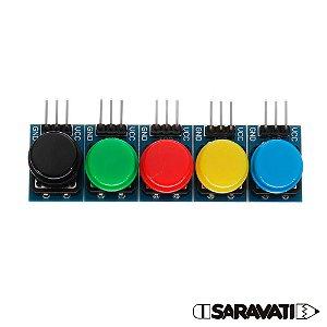 Módulo Botão 12mm Chave Táctil Push Button 3 Pinos 5 Cores