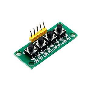 Módulo Teclado Keypad MCU 5 Pinos 4 Botões