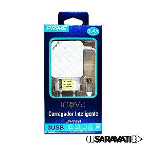 Fonte Carregador Micro USB 100-240V 5V 3.4A CAR-G5098 Inova