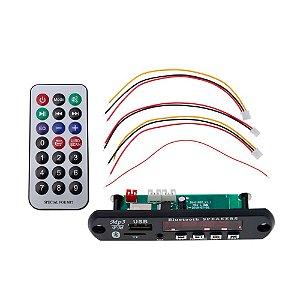 Módulo Player MP3 TF Card USB Rádio JQ-018BT