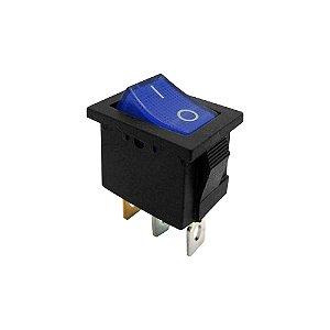 Chave Gangorra KCD1-102N 3T 6A 250V I/O Neon (Azul)