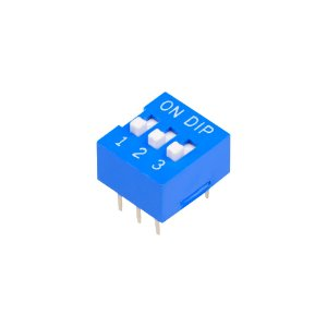 Chave DIP Switch KF1001 Azul 3 Vias 180