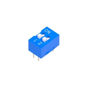 Chave DIP Switch KF1001 Azul 2 Vias 180