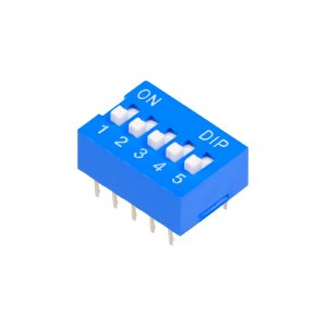 Chave DIP Switch KF1001 Azul 5 Vias 180