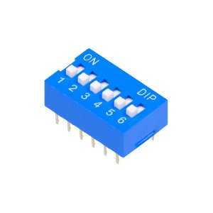 Chave DIP Switch KF1001 Azul 6 Vias 180
