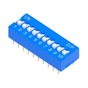 Chave DIP Switch KF1001 Azul 10 Vias 180