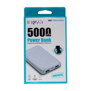 Carregador Power Bank 5000mAh POW-8494 Inova Branco