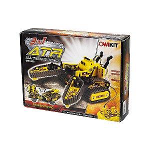 Robô de Esteira ATR All Terrain Robot 3 em 1 OWIKIT OWI-536