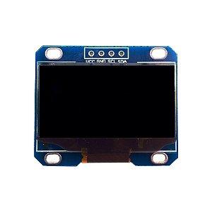 "Display OLED 128x64 Px - 1.3"" - 4 Pin - Branco"