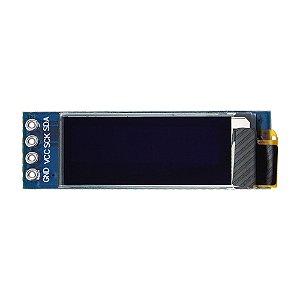 """Display OLED 128x32 Px - 0.91"""" - 4 Pin - Azul"""