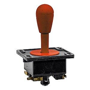 Joystick Controle Arcade Fliperama Vermelho 1Un