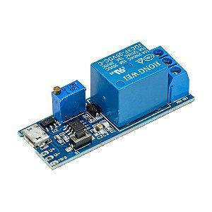 Relé Temporizador Trigger Micro USB 5V