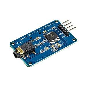 Módulo Player MP3 Serial TF Card YX5300 Saída P2 Estéreo