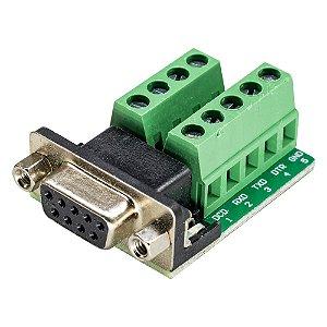 Módulo Adaptador DB9 Serial RS232 Fêmea para Borne