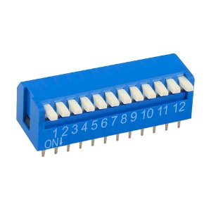 Chave DIP Switch KF1002 12 Vias 90 Azul