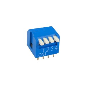 Chave DIP Switch KF1002 4 Vias 90 Azul