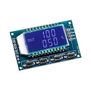 Módulo Gerador PWM com LCD Frequência 1Hz - 150KHz 3.3V 30V