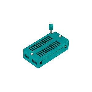 Soquete ZIF Textool DS-1043 24P padrão DIP