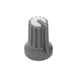 Knob KA481 Pot. Rotativo Eixo 6mm Cinza / Branco