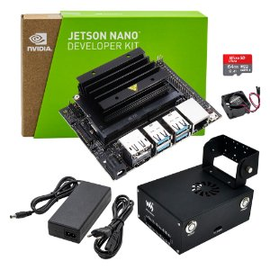 Jetson Nano Dev Kit Nvidia + Fonte Case Metal Waveshare 64GB