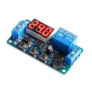 Módulo Temporizador Programável 3 Botões Buzzer Relê 12V