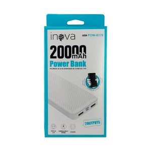 Carregador Power Bank 20000mAh POW-8378 Inova Branco