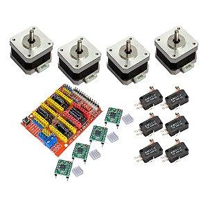 Kit CNC Shield 4 Motor Nema 17 4Kg + 4 A4988