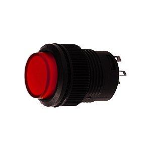 Botão Pulsativo Neon 3A 250VAC R16-503AD 4T (Vermelho)