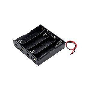 Suporte para 4 Baterias 18650 3,7V