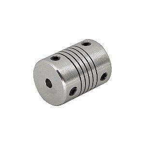 Acoplamento Flexível 4mm x 8mm Motor de Passo CNC 3D Printer