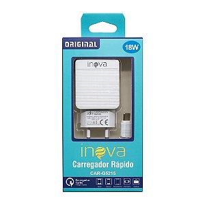 Fonte Carregador Cabo USB-C 100-240V 5V 3.1A 18W (Branco)