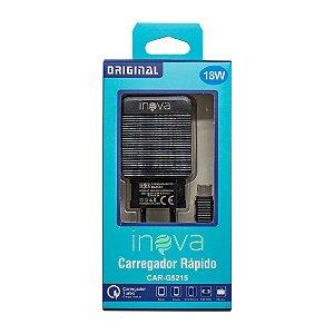 Fonte Carregador Cabo USB-C 100-240V 5V 3.1A 18W (Preto)