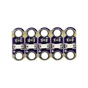 Mini Módulo de Luz LED SMD Lilypad 5 Unidades (Azul)