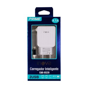 Fonte Carregador Lightning iPhone iPad 100-240V 2 USB Inova