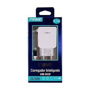 Fonte Carregador Lightning iPhone iPad 100-240V 2 USB Inova