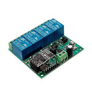 Módulo Relé 4 Canais com ESP8266 Wifi IOT (5V)