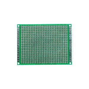 Placa de Circuito Impresso Dupla Face 60x80mm 27x22 Furos