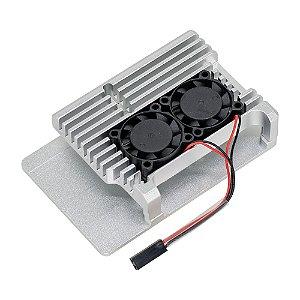 Case Raspberry Pi 4 Armor Case Alumínio Prata