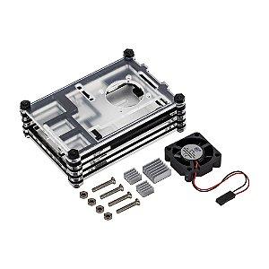Kit Case Acrílico P/ Raspberry Pi3 + Cooler + 3 Dissipadores