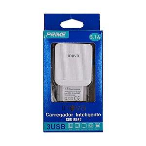 Fonte Carregador 3 USB 5.1A 100-240V USB-C Inova